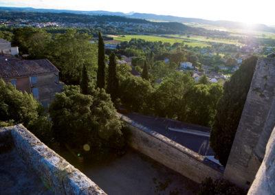 Vue sur les alentours du Château de Villevieille